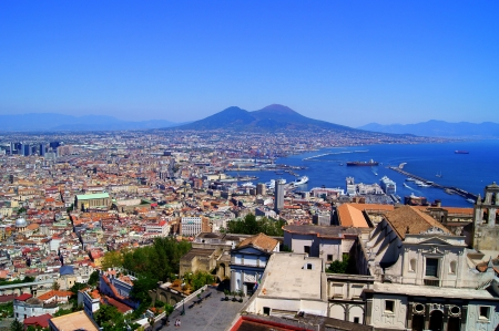 Panorama of Naples and Mount Vesuvius