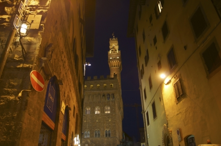 Old buildings in Florence night lighting Stock Photo - 15502554
