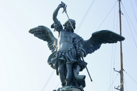 Archangel puts his sword to the Castel Sant'Angelo Stock Photo - 15423489