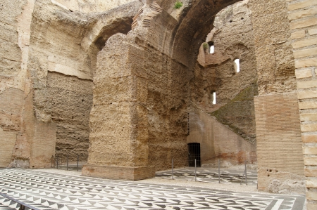 adulation: Ancient baths in Rome, built by Emperor Caracalla