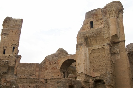Ancient Roman baths, built by Emperor Caracalla photo
