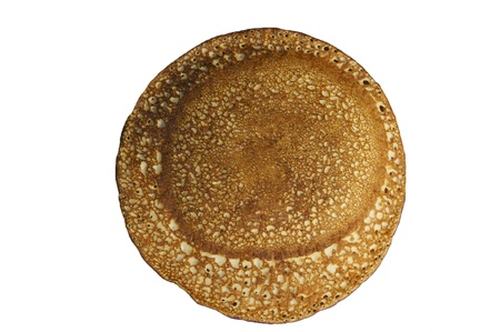 Russian pancake on white background photo