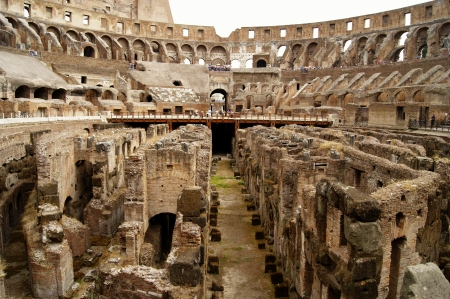 Inside view of the Roman Coliseum Stock Photo