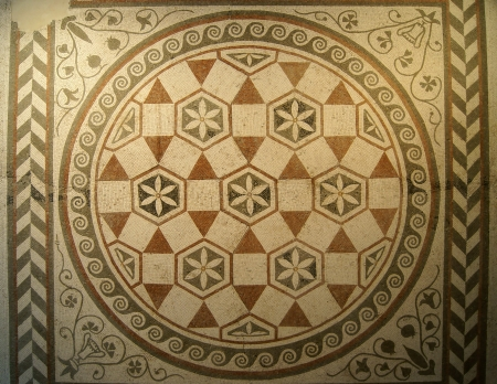 Mosaic pattern of the ancient villa