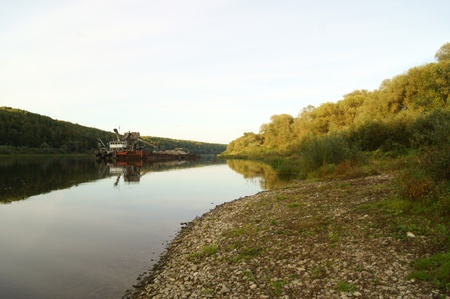 Early autumn on the recommendations of Oka in Russia and dredge photo
