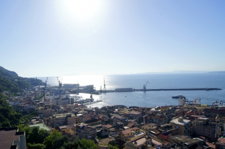View of the bay in the Mediterranean Sea from the top, near Naples, Italy   photo
