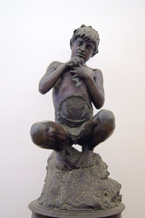 A statue of a boy fisherman Vincent Gemito, museum new castle in Naples Stock Photo - 16747319