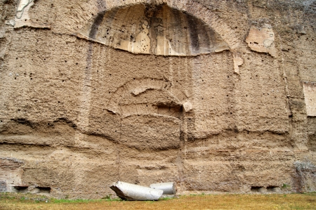 A niche in the wall of the complex term, built by Emperor Caracalla in Rome photo