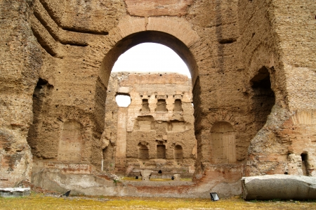 Ancient baths, built by the Roman emperor Caracalla       photo