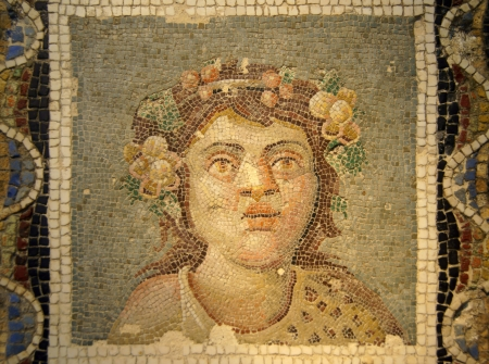Ancient mosaic of Dionysus, Rome, Italy