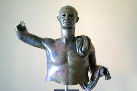 augustus: Bronze statue, probably Julius Caesar   Stock Photo