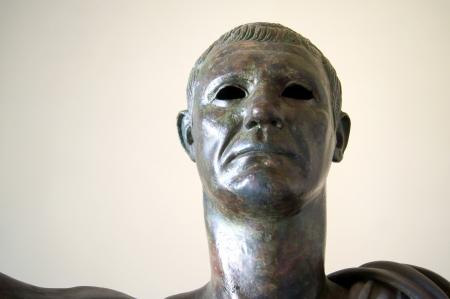 augustus: Bronze statue, probably Julius Caesar