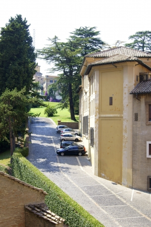 Street in the Vatican, leading to the Vatican Gardens         photo