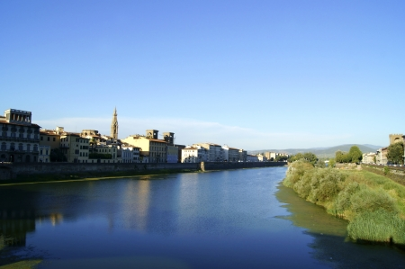 river arno: The river Arno in Florence  Stock Photo