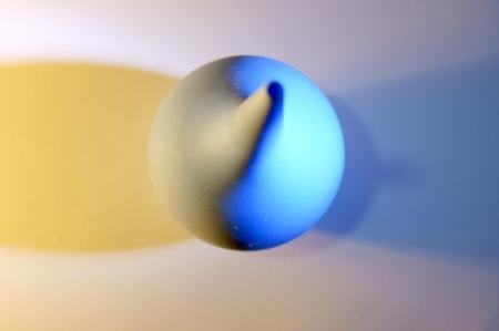 enema: Small rubber medical enema blue Stock Photo