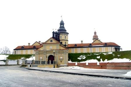 mannerism: Nesvizh Castle in Belarus in winter