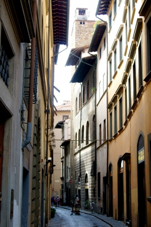 The narrow streets of the old part of Florence photo
