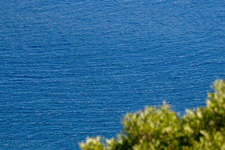Landscape with the blue sea and the prospect of photo