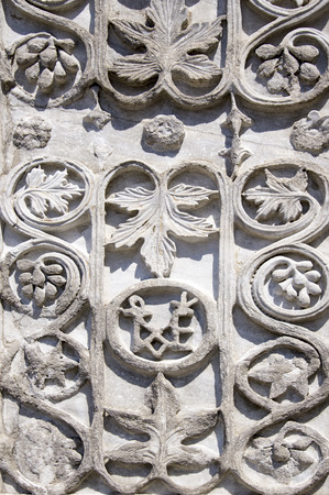 Floral ornament - element of the facade of the old convent