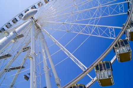 Ferris wheel on the seafront in Rimini, Italy