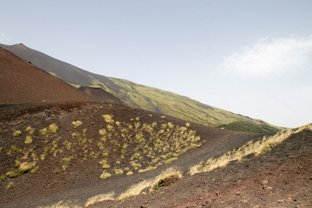 active volcano: The largest active volcano in Europe - Etna Stock Photo