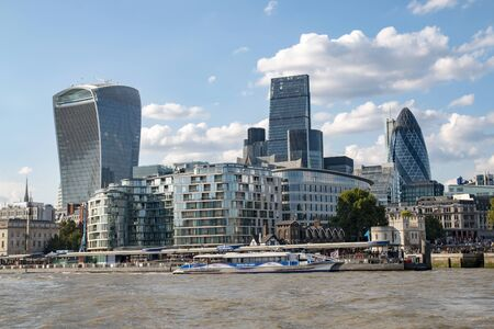 View from the City of London Stock Photo