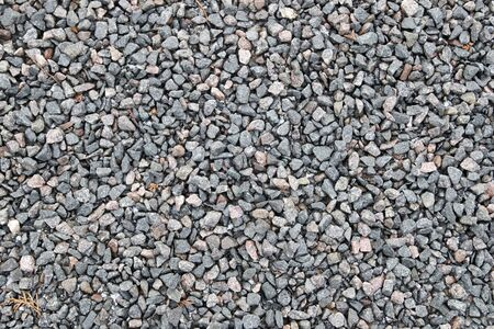 Gray granite  marble chips as background Stock Photo