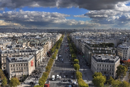 elysees: Paris viewed from Arc de Triomphe