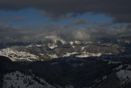 Bucegi Carpati Mountains view from sky Stock Photo - 13486887