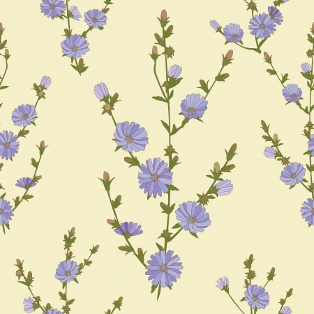 Seamless texture with chicory.  Seamless can be used for wallpaper, pattern fills, web page background, surface textures