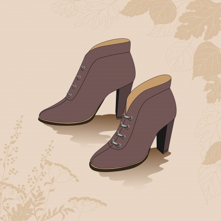 wooden shoes: shoes on the background with the autumn leaves