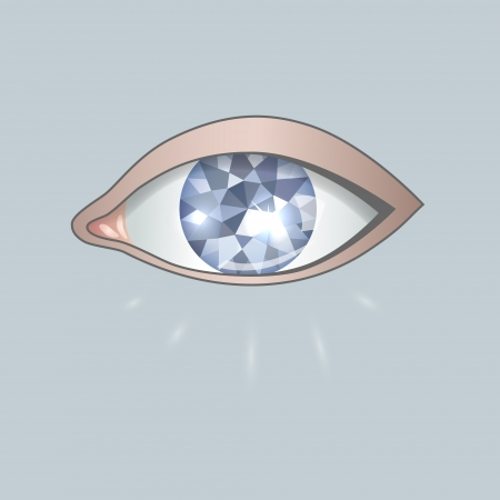 beatific: image eye as blue diamond