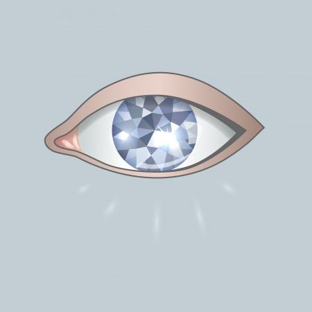 image eye as blue diamond
