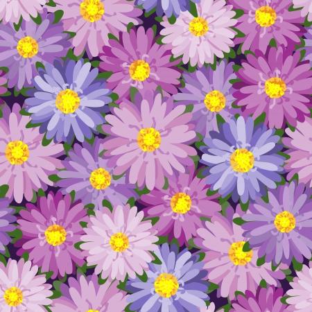herbstblumen: Nahtlose Textur mit Herbstblumen Illustration