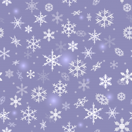 aureole: Seamless texture with falling snowflakes