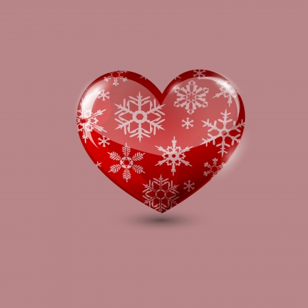 shiny heart: Winter snowflakes and Big Heart