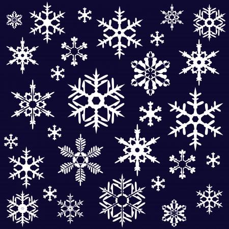 snowflake icon: Snowflakes on dark background