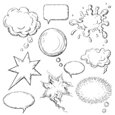 コミックのスピーチの泡のコレクションです。