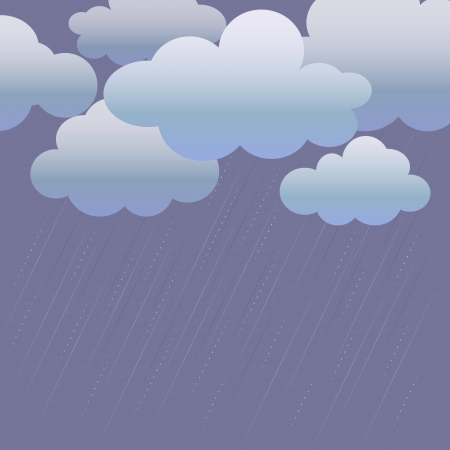 drizzle: Background with clouds and rain stripes.