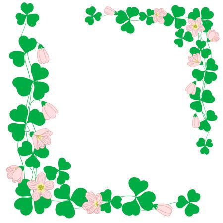 leaf shape: Floral frame with pink flowers.