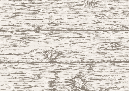 Gray wooden texture background.Hand drawn old wood  board. Gray wooden horizontal planks background. Vector sketch. Stock Illustratie