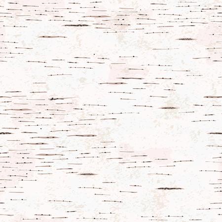 Hand drawn birch bark seamless texture. Illustration
