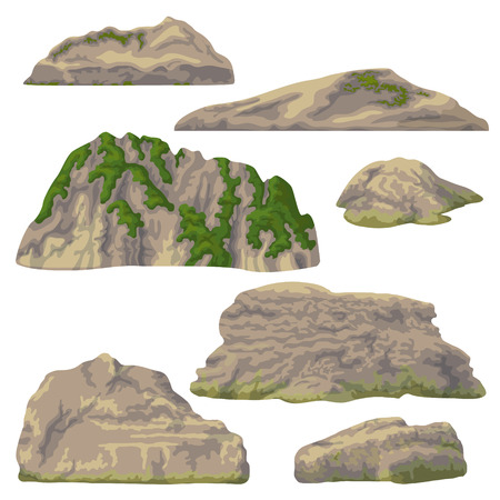 Set of Nature landscape design elements vector illustration Vectores