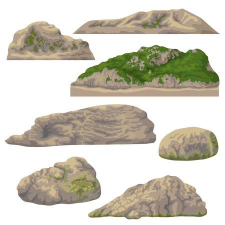 Set of Nature landscape design elements vector illustration Illustration