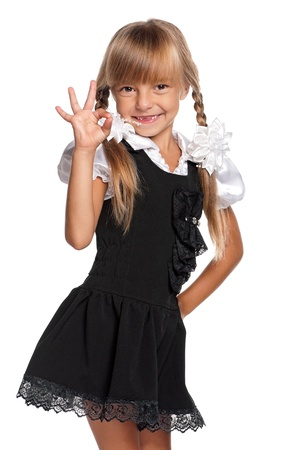 uniforme escolar: Ni�a en uniforme escolar