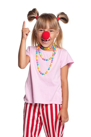 Little girl with clown nose Stock Photo - 15225839