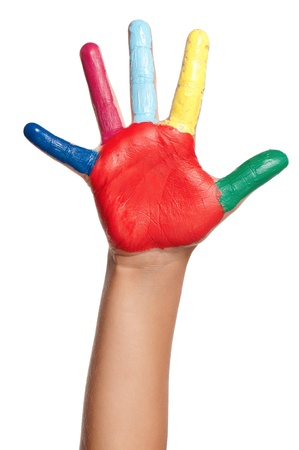Colorful hand Stock Photo - 15321150