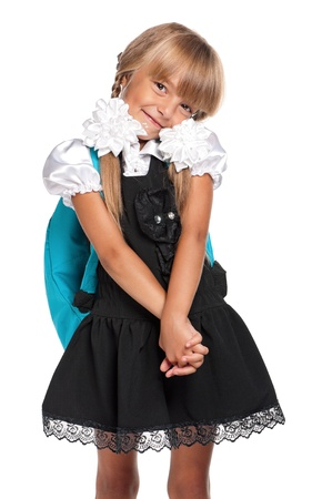 Little girl in school uniform photo