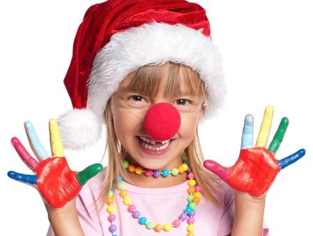 Little girl in Santa hat Stock Photo - 15332768