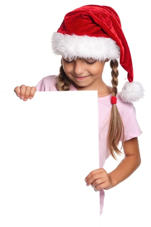 Little girl in Santa hat Stock Photo - 15332501